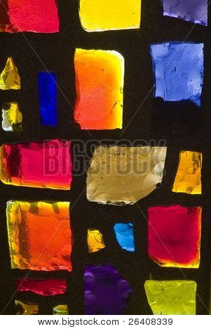 Rich colored stain glass panels background 07