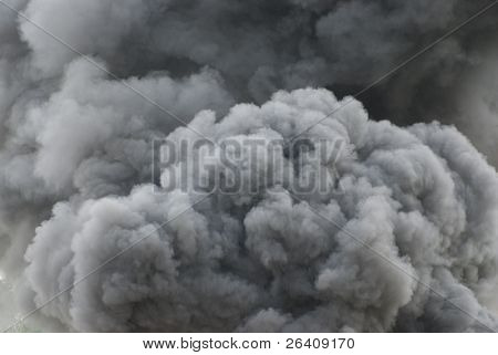 Black smoke cloud series - 08