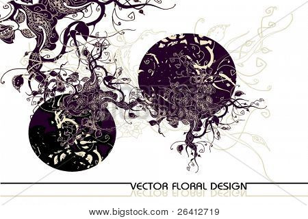 abstract retro-vector floral design