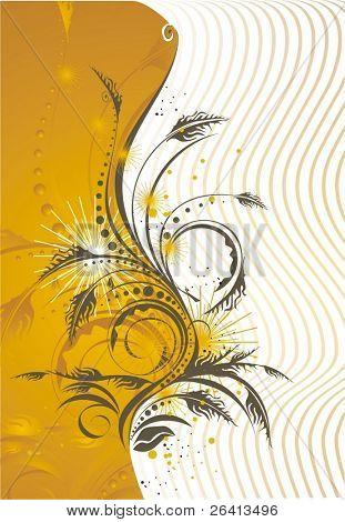 otoño fondo floral, ilustración vectorial