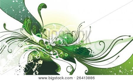 refreshing flow ,floral illustration