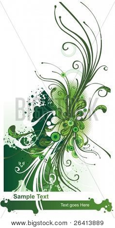 refreshing flow 2, floral illustration