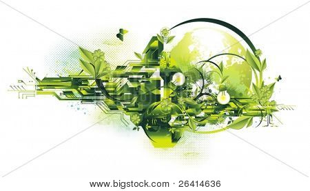 environment & green energy concept,vector illustration