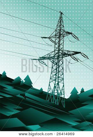 power line vector illustration