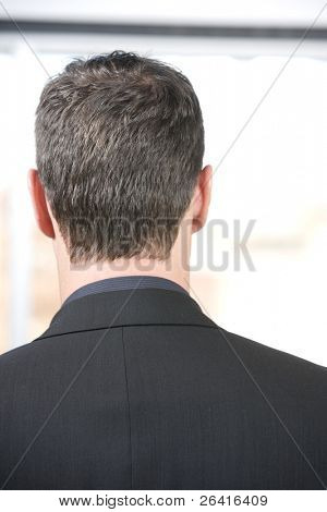 Back of a business mans head