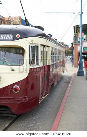 A Cable Car in San Francisco California