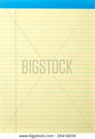 Legal Pad isolated on white in the studio