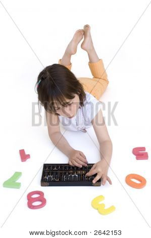 Young Girl With Abacus