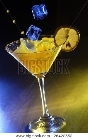 martini splash and ice