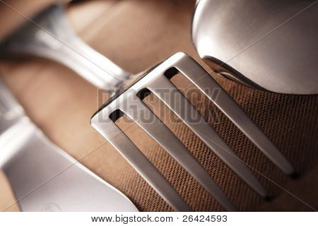 spoon knife fork