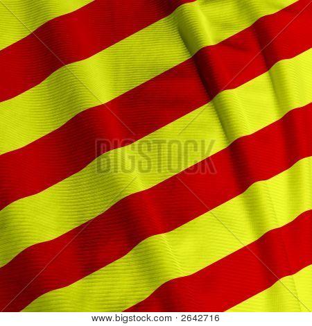 Catalunyan Flag Closeup