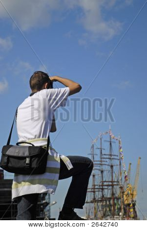Making Pictures Of A Tall Ship