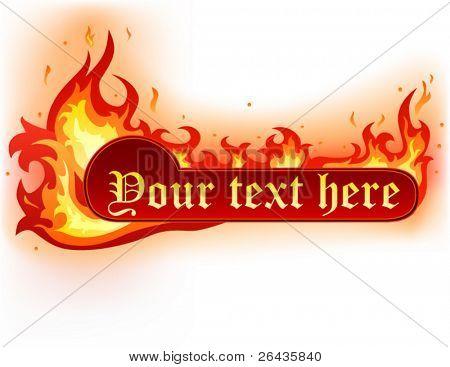 burned banner