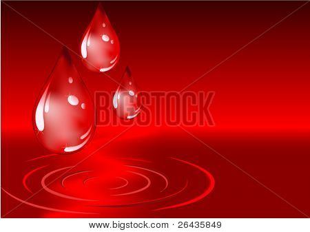 Tropfen Blut