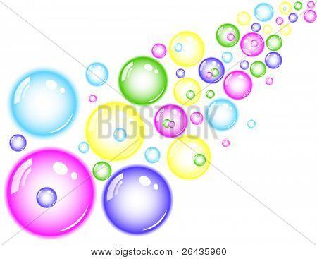 colorful bubble