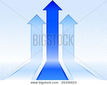 Blue abstract arrows