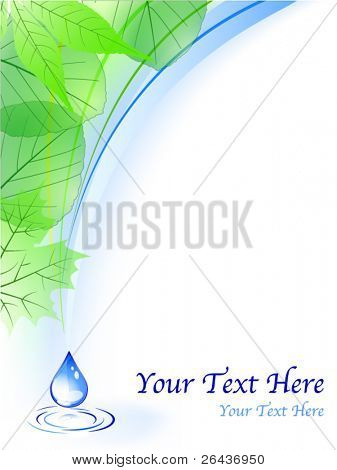 Vector of environmental background with drop