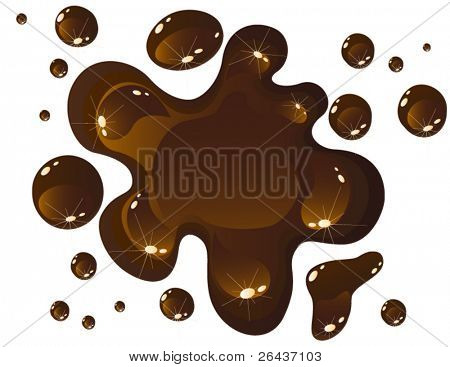 Chocolate spill