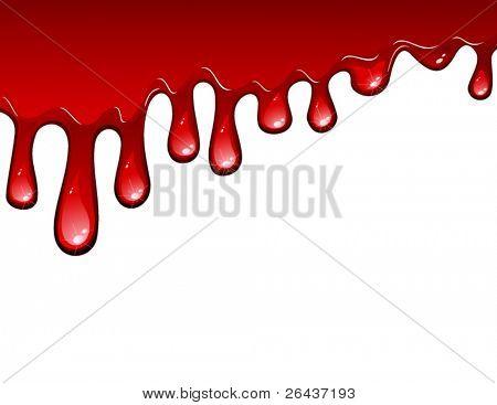 fließende Blut Tropfen