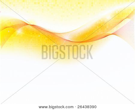 Abstract background with gold wave