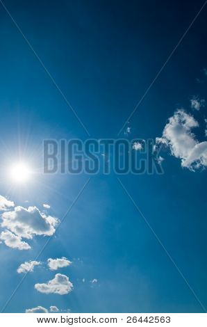 sunny sky background vertical
