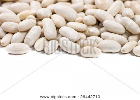 haricot beans isolated on white background