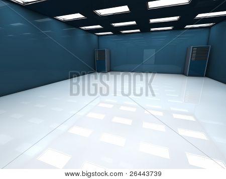 3D server room