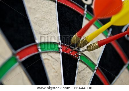 Triple hit point in darts