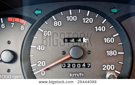 An automobile odometer