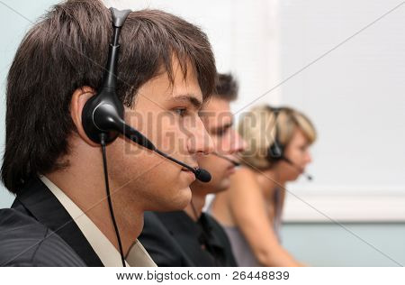 Customer service operators at work