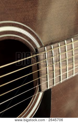 Old Guitar Close Up