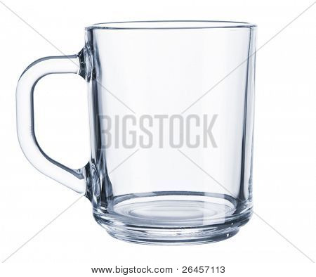 Glass cup isolated on white