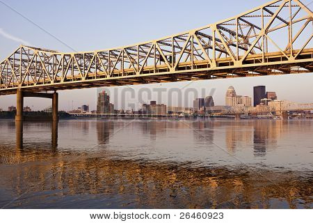 Yellow Bridge In Louisville