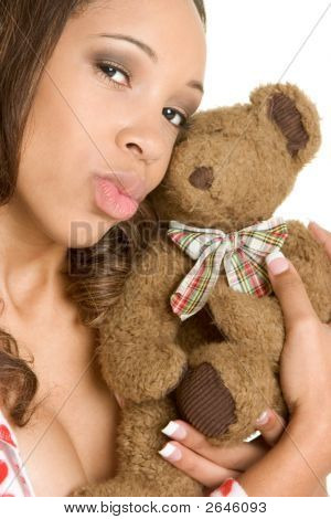 Teddy Bear Loving Woman