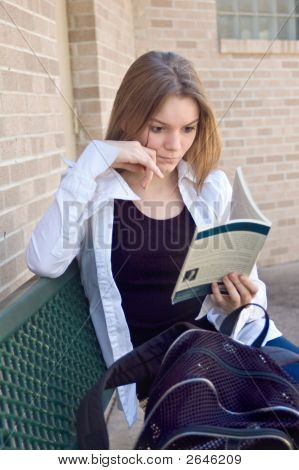 Teen High School Girl Reading