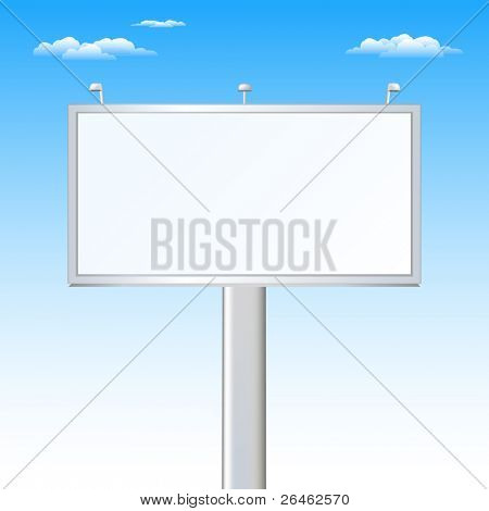 Advertising Billboard Over Sky (Your Ad Must Be Here)