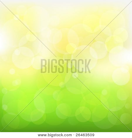 Abstract Green And Yellow
