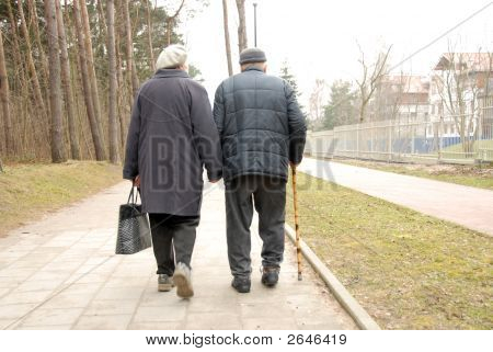 Senior Couple Strolling