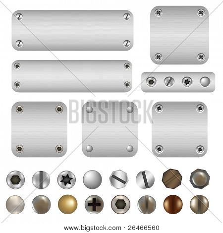 Schrauben und Bolzen, isolated on white Background, vector illustration