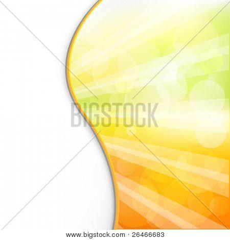 Wed Sonne Hintergrund und Strahlen, Vektor-illustration