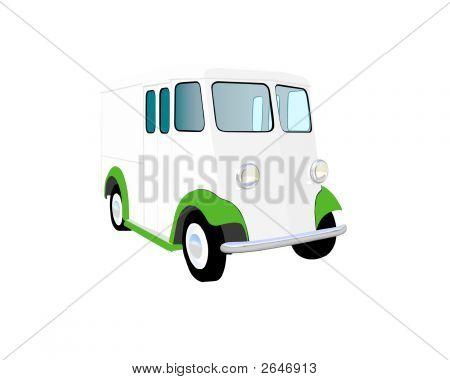 Twenties Milk Truck Vector