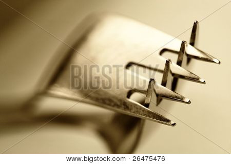 Prongs of a fork - stylish, image fit for instance in modern kitchen