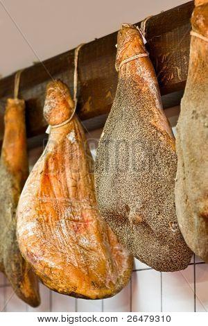 Italian ham at the butchery