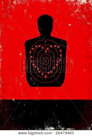 Red And Black Poster With Target
