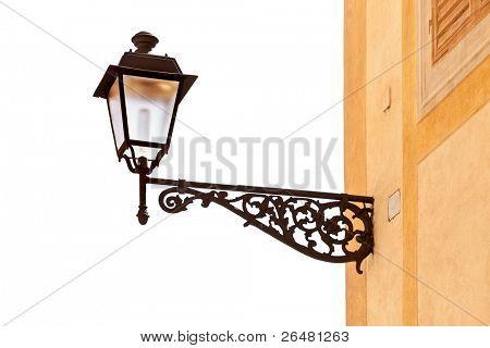 Decorative street lamp isolated on vhite background