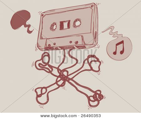 Old audio cassette.