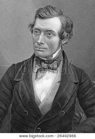 Thomas Graham (1805-1869). Engraved by C.Cook and published in Chemistry, Theoritical, Practical & Analytical, United Kingdom, 1860.