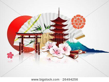 Decorative Traditional Japanese Background