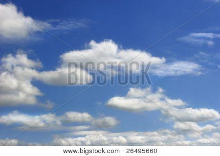 Sky and alto cumulus clouds