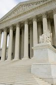 stock photo of supreme court  - Supreme Court Building Washington DC travel series 32 - JPG